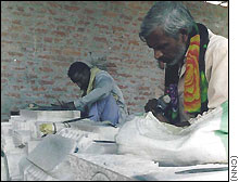 Stonemasons have been working on sculptures for the proposed Hindu temple in Ayodhya for over a decade