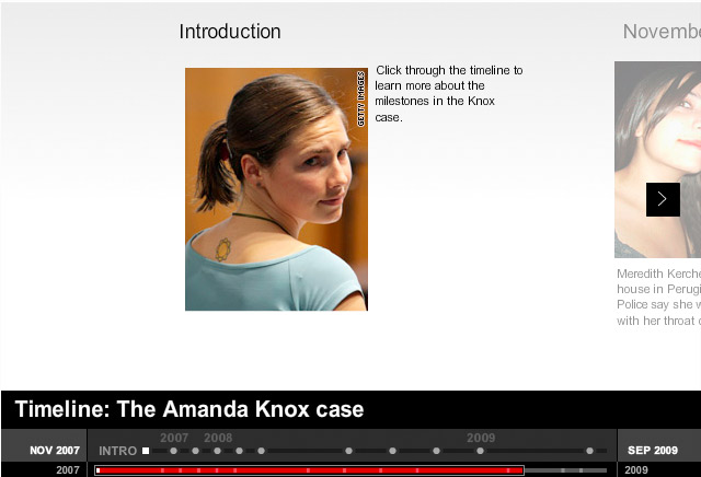 amanda knox trial evidence. Timeline: The Amanda Knox case