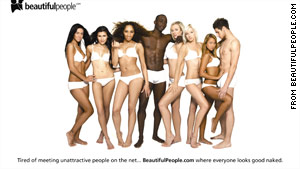 """The site aims to attract users """"tired of meeting unattractive people on the Net."""""""