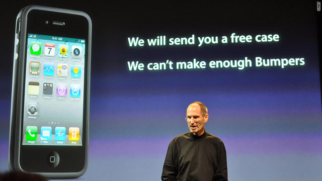 apple offers free cases for iphone 4 reception problem cnn com