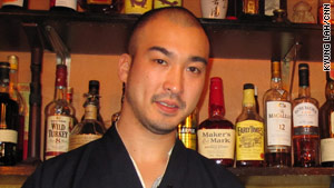 "Monk Zenshin serves up cocktails with Buddhism at the ""Monk Bar."""