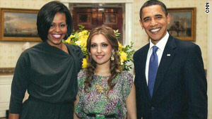 Mozhdah performed at the White House earlier this year and met