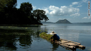 Taal Lake in the Philippines is home to one of the most active volcanoes in the world.