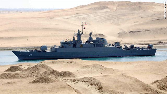 Iranska krigsskepp i suezkanalen