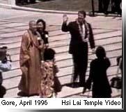 Image result for al gore buddhist temple