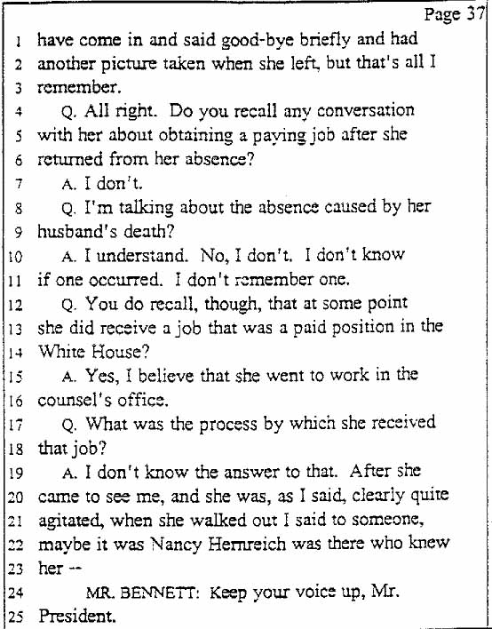 legal documents the clinton deposition march 13 1998
