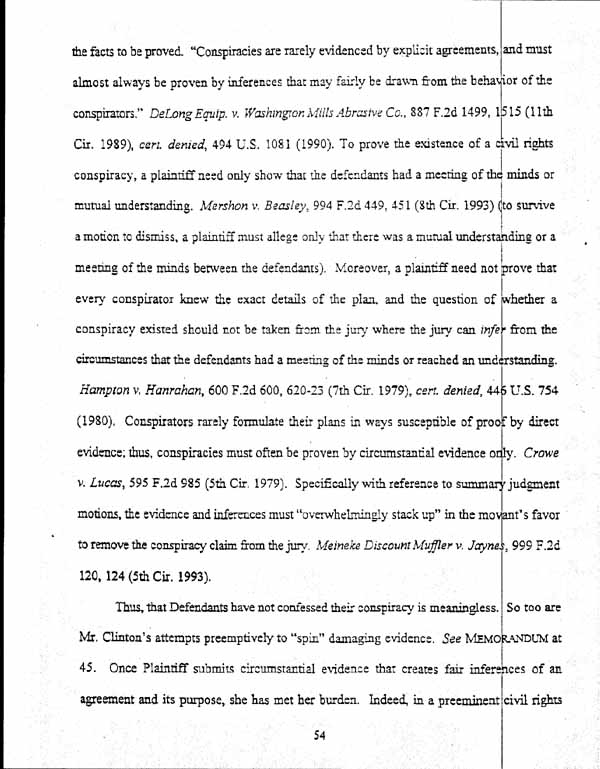 Plaintiff\'s Opposition To Defendant Clinton\'s Motion For Summary ...