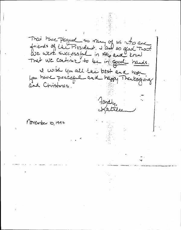 44g nov 10 1997 note to clinton from willey requesting white house christmas party invitation page 1 2 stopboris Gallery