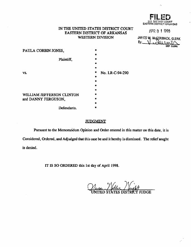 Documents judge grants clintons motion for summary judgment judgment order altavistaventures Choice Image