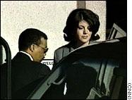 Lewinsky arrives