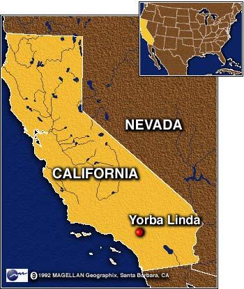 Where Is Yorba Linda California Map.New Nixon Tape Transcripts Released On Web February 25 1999
