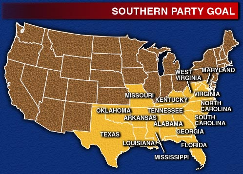Southern Party Seeks To Revive Old Times Not Forgotten August - Map of the southern us states