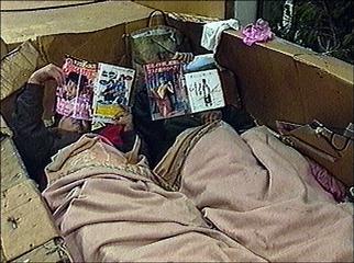 cnn police evict homeless jan 24 1996. Black Bedroom Furniture Sets. Home Design Ideas