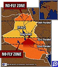 No fly zone map