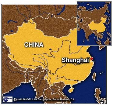 Image result for shanghai china map world