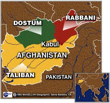 NATO Role In Post Afghanistan - Afghanistan taliban dostums massouds map
