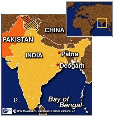 Patna In India Map.Cnn Pilgrims Die In Indian Truck Accident Dec 10 1996