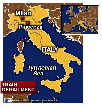 Cnn At Least 8 Dead In Italian Train Derailment Jan 12 1997