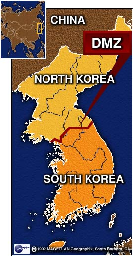 Southern Troops On Patrol Within The Dmz Fired 10 Shots Into The Air After Spotting Five Or Six North Korean Soldiers Who Had Crossed The Border Line U S