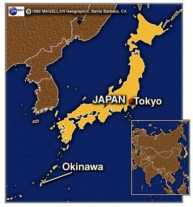 Bases In Okinawa Japan Map.Cnn Japan Oks Law To Continue U S Bases On Okinawa Apr 17 1997
