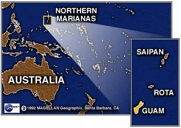 Guam Island Location On World Map