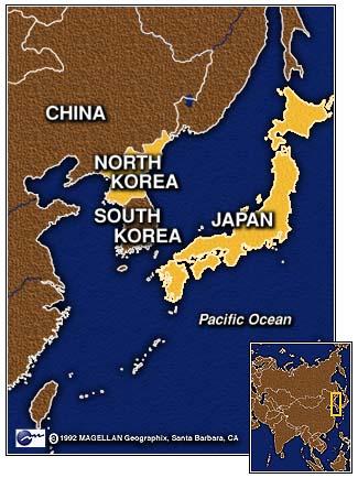 satellite photo of north korea at night. just north of S. K.?