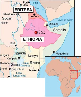 Map Of Africa Eritrea.Ethiopia In Threat To Oust Eritrea S Regime Wars In The World