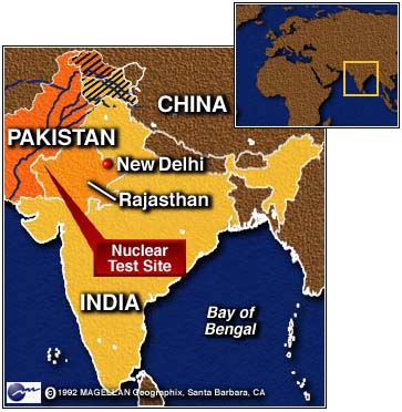 Map Showing India S Nuclear Test Site