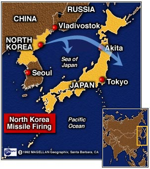 CNN North Korean Test Missile Flies Over Japan Into Pacific - Japan map missile