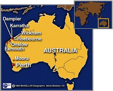 Map Of North West Australia.Cnn Dangerous Cyclone Aims For Northwest Australia March 21 1999