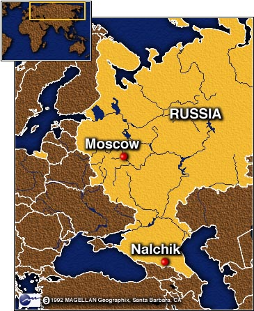 CNN - Nalchik map
