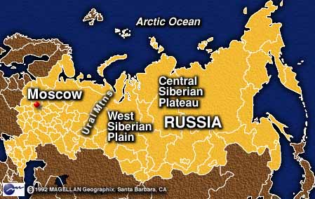 Where are the Ural Mountains located