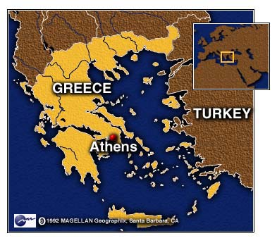 CNN Greeks Angered By NATO Strikes Clash With Riot Police - Us embassy athens map