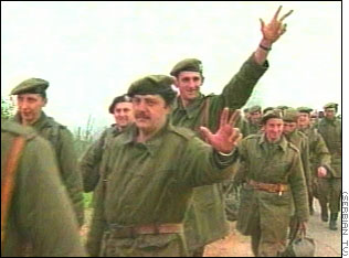 Image result for yugoslav troops leave kosovo