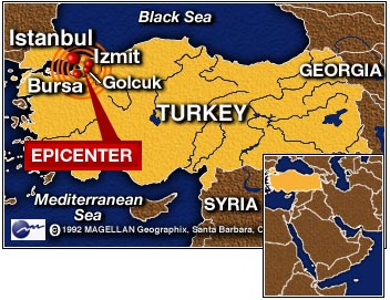 turkey earthquake izmit essay The 1999 i̇zmit earthquake occurred on 17 august at 03:01:40 local time in  northwestern  major earthquakes in turkey result mainly from slip along the  nafz or the east anatolian fault the izmit earthquake  tectonic summary  historic.