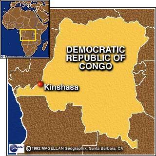 africa map kinshasa