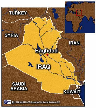 officials said saturday a fourth night of bombing was under way in iraq and witnesses in baghdad said anti aircraft fire flashed across the sky as more