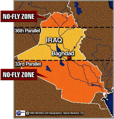 CNN US Jets Encounter Iraqi Fighters Over Southern Nofly Zone - Us no fly zones map