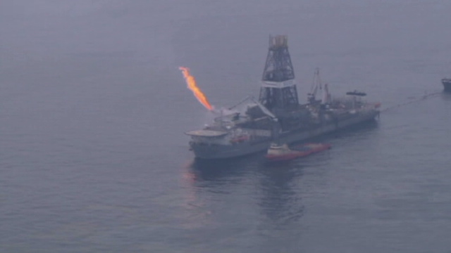 Oil in the Gulf of Mexico has moved into the inland waterway along coastal Alabama
