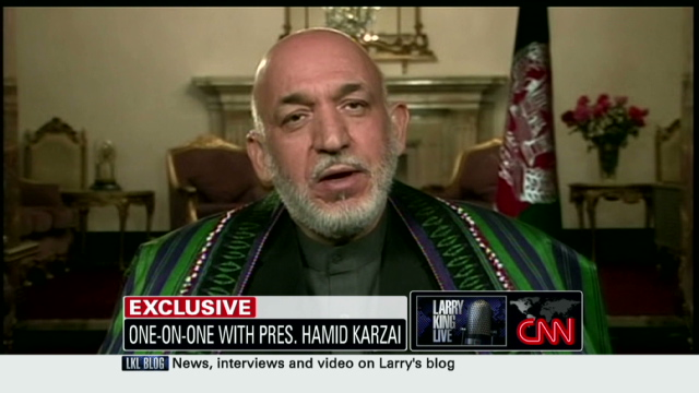 Karzai on the Taliban, bin Laden, corruption and more