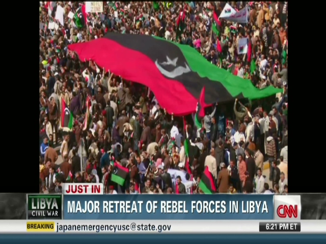 Libyan forces sock oil port as global pressure against
