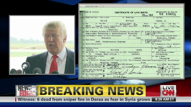 obama birth certificate trump cnn donald form releases country trumps did birtherism finally history drive chief president racists vet via