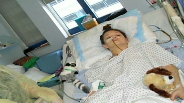 icu Teen on ventilator girls in