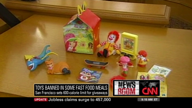 Fast Food Toys : Ban on low nutrition kid toy meals draws nearer in san