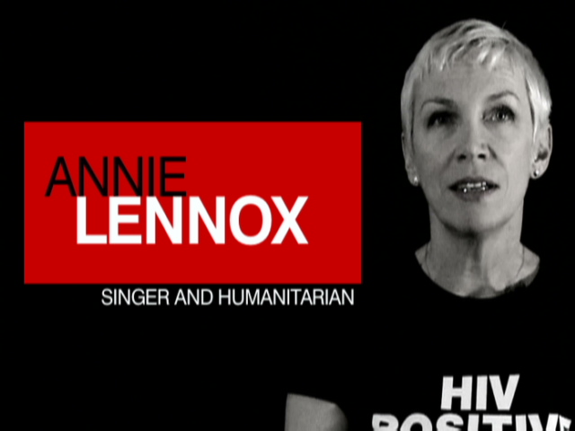 annie lennox hiv positive