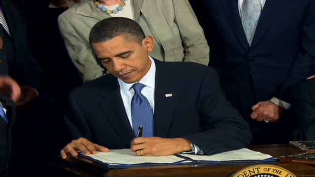 Obama Signs Health Care Bill Senate Takes Up House