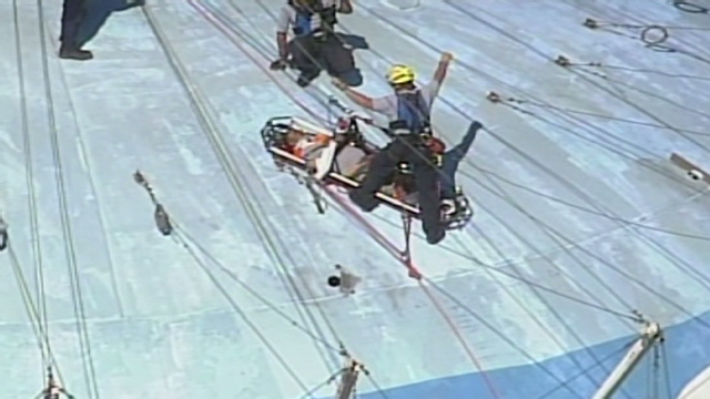 2 injured workers rescued from inside 160 foot tall water tower. Black Bedroom Furniture Sets. Home Design Ideas
