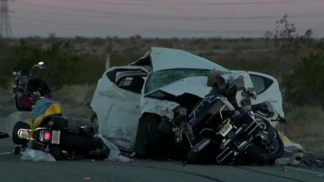 Five killed in California crash involving 12 motorcycles