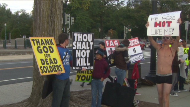 Picketing the funeral and gays