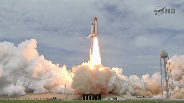 Shuttle Atlantis Takeoff Space Shuttle Atlantis Lifts